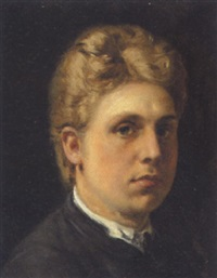 ung mand med blå ojne og kraftigt, lyst hår by holger peter roed