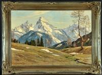 vorfrühling bei berchtesgaden mit watzmann und hochkalter by erwin kettemann