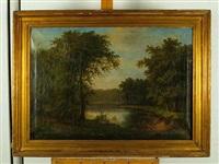 paisaje con río by luis rigalt