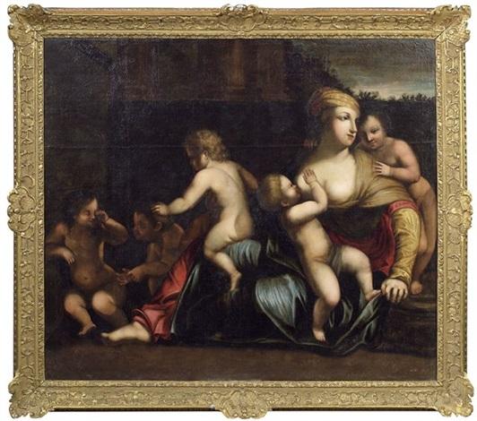 caritas by giovanni francesco romanelli