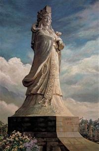 妈祖 (statue of the mazhu goddess) by liang wannian
