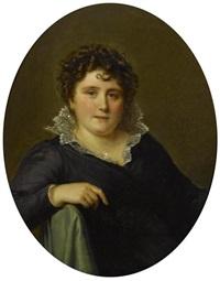 portrait de mme massot, née anne-louis mégevand by firmin massot