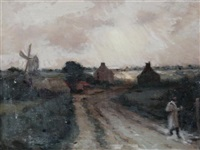 figure on a country lane by marie cazin