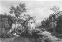 landschaft mit einer wassermühle by leonhard rausch