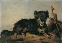 liegender hund by august von rentzell