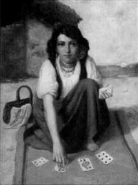 junge kartenlegerin by f. pammer