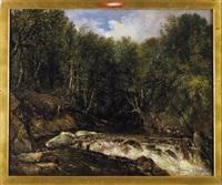 paisaje de montaña con río boscoso by dionisio fierros