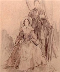 civil war era couple (for the saturday evening post) by harold winfield scott