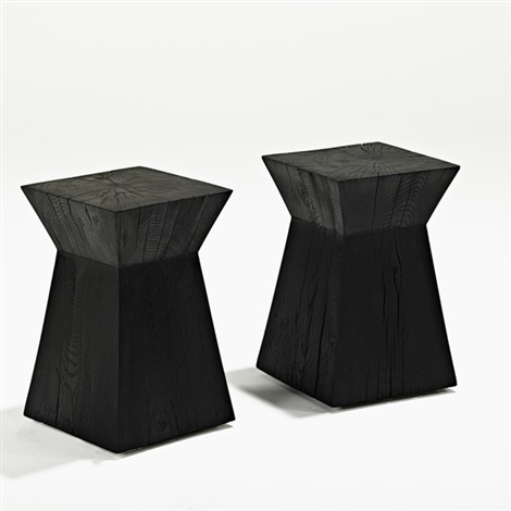 pair occasional tables by christian liaigre