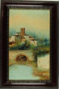 paisaje andaluz con puente by jose maria jardines