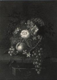 bouquet aus sommerblumen und obst by pieter de ring