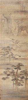 九如图 (character and landscape) by zhou mi