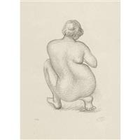 femme accroupie de dos by aristide maillol