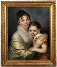 doppelbildnis einer jungen frau mit ihrem söhnchen by françois joseph navez