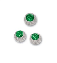 ring and pair of matching ear clips (set of 2) by peter baer