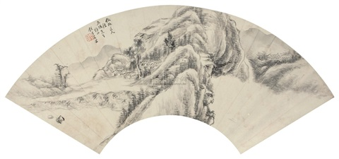 仿古山水 landscape by xi gang