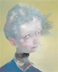 boy in blue by qiu jiongjiong