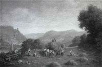 heuernte im schwarzwald by wilhelm spindler