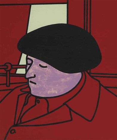 portrait of a frenchman by patrick caulfield