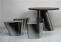 吉-ct 04 园林桌凳 (ji-ct04 garden table & stools) (set of 4) by mvw (co.)