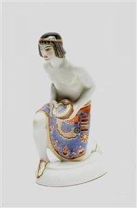 kniender ägypter mit perlen (from hochzeitszug) by adolf amberg