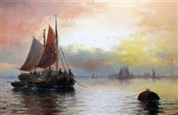 shipping at the mouth of the thames by edward henry eugene fletcher