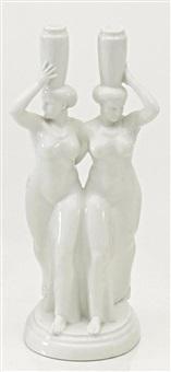 zwei griechinnen mit vasen (from hochzeitszug) by adolf amberg
