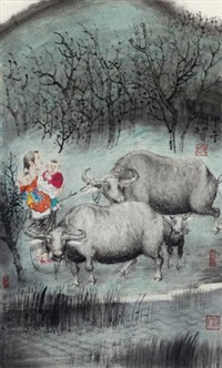 牛 (cattle) by dai shunzhi