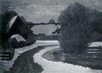 bauernhof im schnee by otto rau