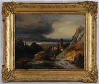 paysage d'italie by jean charles joseph remond