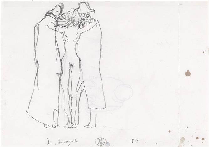 eilboten (3 works) by horst janssen