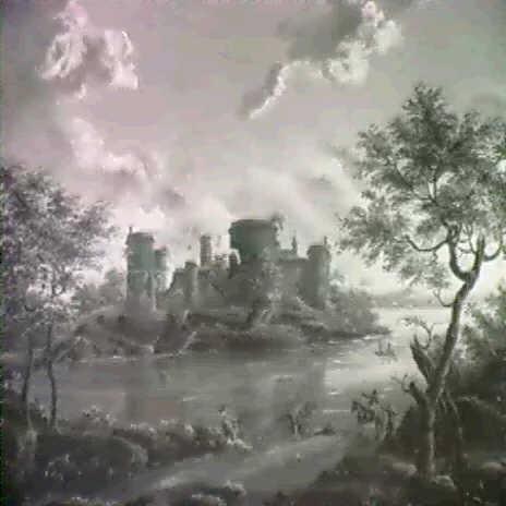A MOATED CASTLE IN RUINS By M De Lezay Marnesia De Nettancourt On