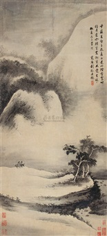 山阴雪霁图 (clearing snow on mountain) by liu yu
