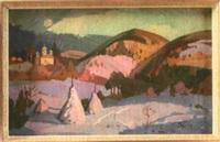 winterlandschaft mit orthodoxer kirche by jakub pfefferberg