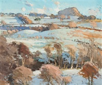 toward the hill, winter by douglas lennox