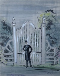 illustration for my poor brother ernest from oscar wilde's the importance of being ernest by cecil beaton