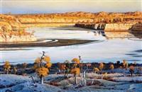 生命之源—塔克拉玛干腹地的克里雅河 (the fountain of life-the keriya river located in the middle of the taklimakan desert) by bai kunting