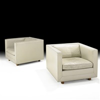tuxedo club chairs (pair) by ward bennett