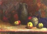 stilleben mit krügen und äpfeln by margrit fischer-moritz