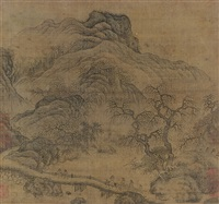 travellers in mountains and stream by chinese school (17)