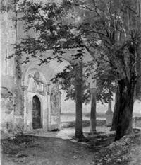 die kirche von belgirate by maximilian von fichard