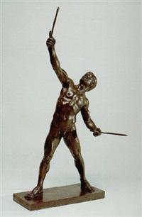 männlicher, athletischer akt beim diabolospiel by johann pabst