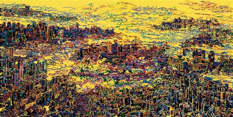 desire of city another 2 works diptych by you jin