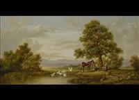rastender reiter unter einer eiche by michael hesner