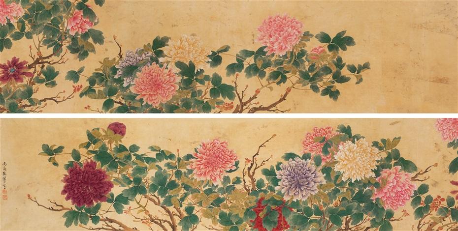 牡丹图卷 peony by tang shishu