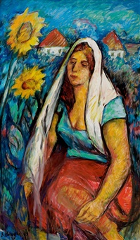 in the sunflower garden by ernst honigberger