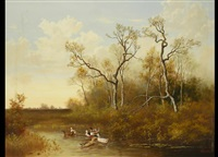 moorlandschaft mit enten by michael hesner