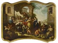 allegorie des geruchs (+ allegorie des geschmackssinns; pair) by giovanni michele graneri