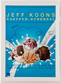 full colour exhibition poster: easyfun - ethereal by jeff koons