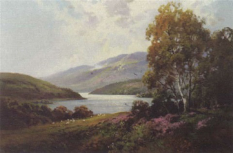 view of thirlmere lake district by william yorke macgregor